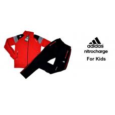 Детски анцуг ADIDAS Nitrocharge памук червен
