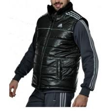 НОВО Мъжки елек Adidas черен със сиво