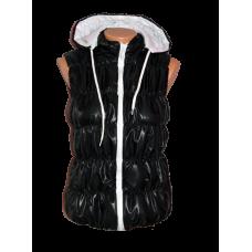 НОВО дамски елек черен с бяло