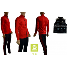 SALE мъжки анцуг ADIDAS NEO червен+елек