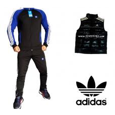 Мъжки анцуг ЕСЕН/ЗИМА ADIDAS ORIGINALS черен синьо+елек