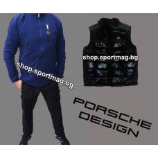 ОФЕРТА мъжки анцуг ADIDAS Porsche Design NEW син с черно+елек