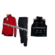 ОФЕРТА ЕСЕНЕН анцуг Adidas Climacool Rashel червен+елек