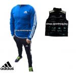 ОФЕРТА мъжки анцуг Adidas CLASSIC Poliamid син+елек