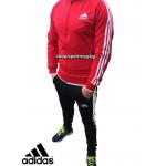 НОВО мъжки анцуг Adidas CLASSIC Poliamid червен