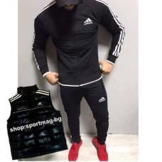 ОФЕРТА мъжки анцуг Adidas CLASSIC Poliamid черен+елек