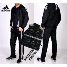 Мъжки анцуг ЗИМЕН Adidas Porsche Design черен+елек
