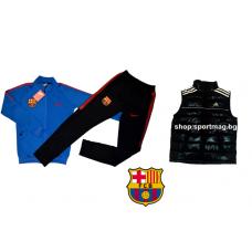 ОФЕРТА анцуг NIKE FC Barcelona POLIAMID син футболен+елек