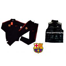 ОФЕРТА анцуг NIKE FC Barcelona POLIAMID черен футболен+елек
