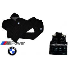 ЗИМЕН ватиран мъжки анцуг BMW черен+елек