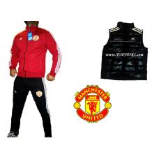 ОФЕРТА футболен анцуг ADIDAS Manchester United+елек