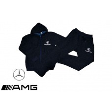 ЗИМЕН ватиран мъжки анцуг Mercedes тъмно син