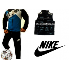 ОФЕРТА Мъжки спортни екипи NIKE AIR Rashel син+елек