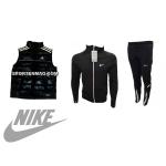 ОФЕРТА мъжки анцуг NIKE Dry Fit Cool черен с бяло+елек